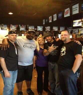 Joel, Ickey Woods, Adrienne, Pep and Don Rugg